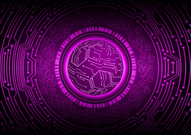 Purple world cyber circuit future technology concept background