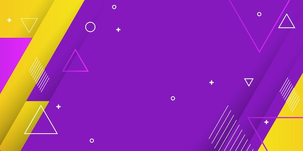Purple and yellow background. abstract geometric trendy design.