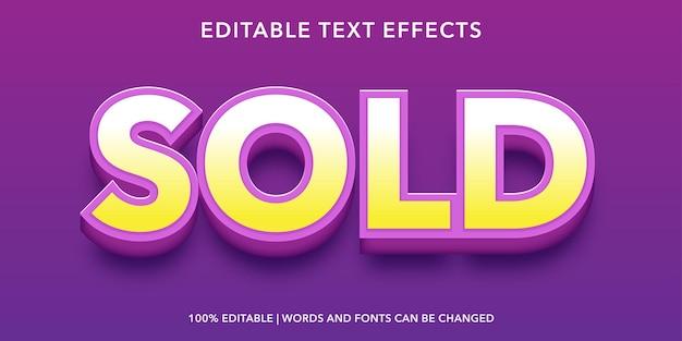 紫黄色の編集可能なテキスト効果