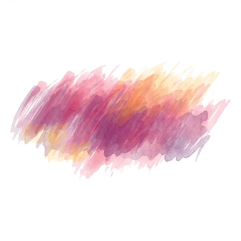 Purple and yellow watercolor painted vector stain isolated