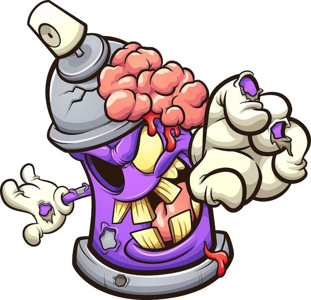 Фиолетовый баллончик с зомби
