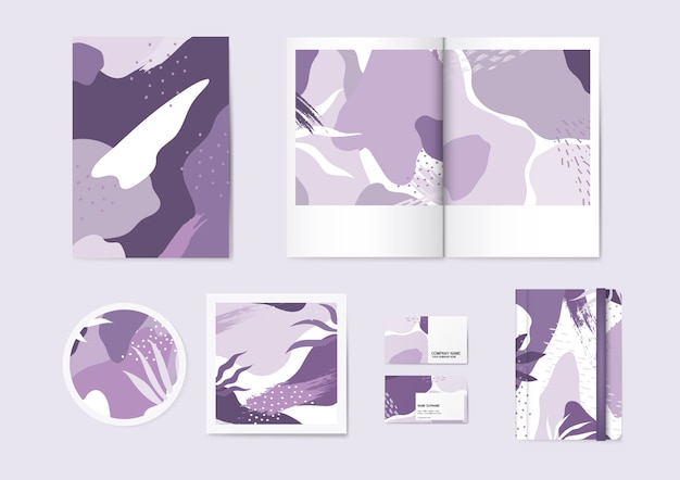 Purplememphis pattern vector set