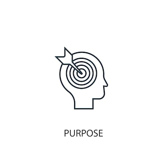 Purpose concept line icon. simple element illustration. purpose concept outline symbol design. can be used for web and mobile ui/ux