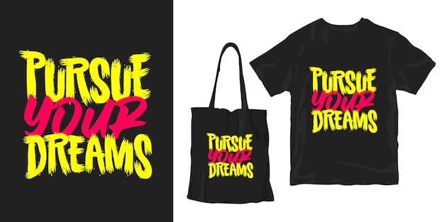 Pursue your dream -inspirational motivational poster merchandising