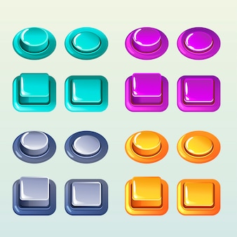 Push buttons for a game or web design element