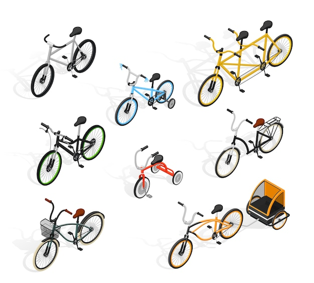 Push cycles isometric set