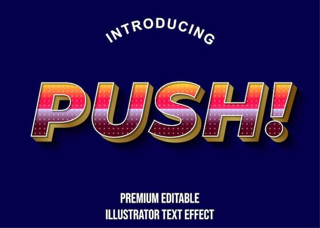 Push editable text стиль эффект шрифта
