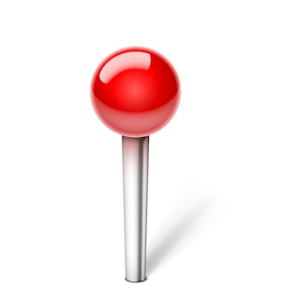 Push pin isolated
