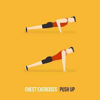 Push up demostration