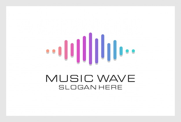 Pusle дизайн логотипа премиум вектор. логотип можно использовать для музыки, мультимедиа, аудио, аквалайзера, записи, ночного клуба, диджея, дискотеки, магазина.