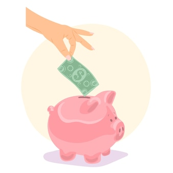 Складывать деньги в копилку