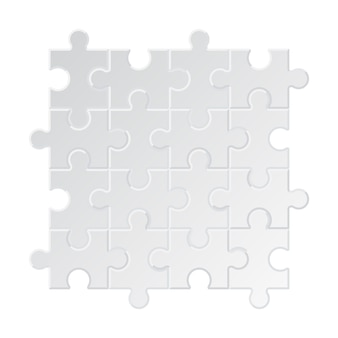 Puzzle background. business jigsaw tags collection different pieces square circle puzzle geometrical forms