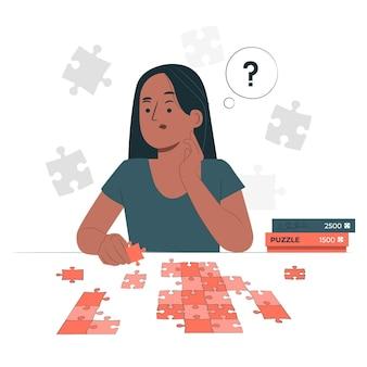 Puzzle concept illustration