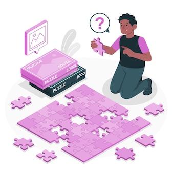 Illustrazione del concetto di puzzle
