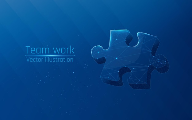 Puzzle elements symbol of teamwork cooperation partnership association and connection
