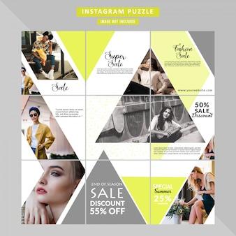 Puzzle fashion веб-баннер для социальных сетей