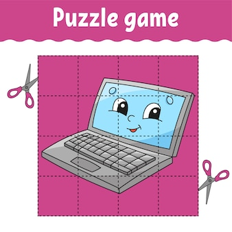 Puzzle game for kids. education developing worksheet. back to school.