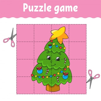 Puzzle game for kids. education developing worksheet. learning game for children. activity page. for toddler.