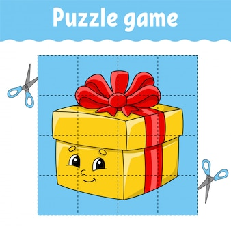 Puzzle game for kids. education developing worksheet. learning game for children.