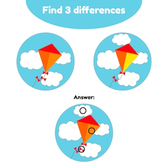 Puzzle game for preschool children.
