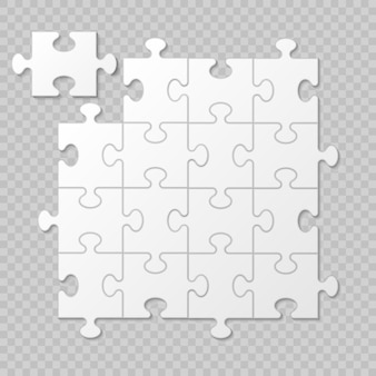 Puzzle piece business presentation