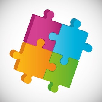 パズルのピースと大きなアイデア