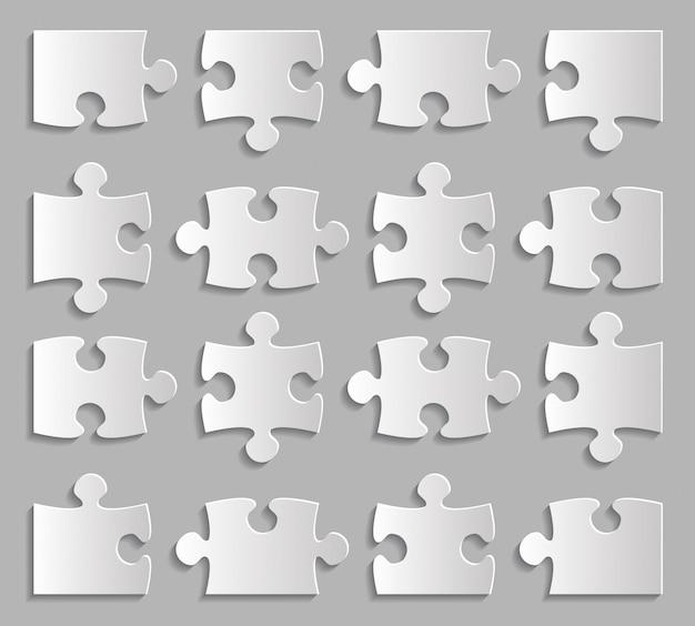 Puzzle pieces set