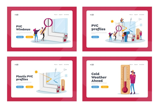 Pvc window profile installation landing page template
