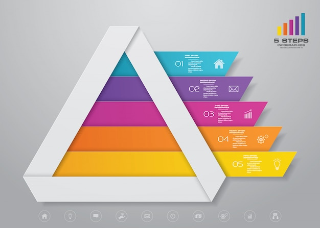 피라미드 차트 인포 그래픽