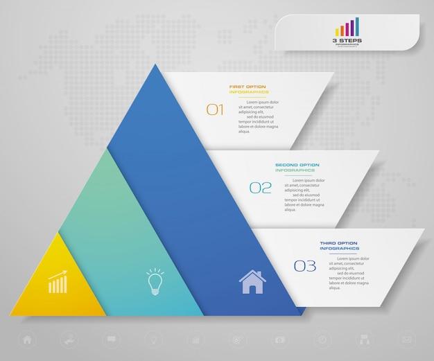 ピラミッドグラフインフォグラフィック