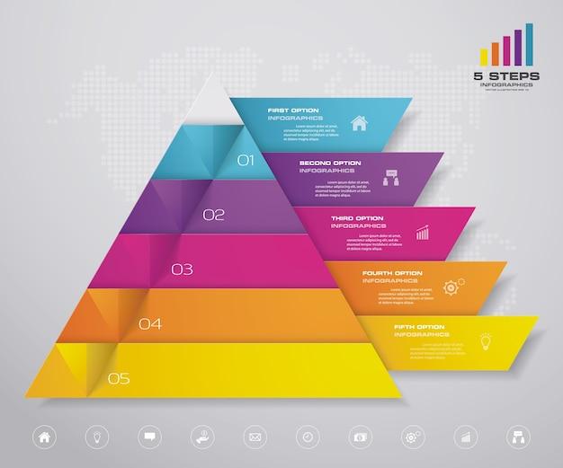 ピラミッドチャートのインフォグラフィック