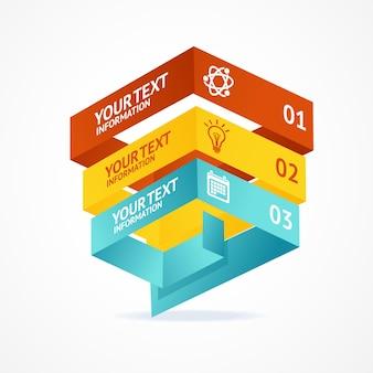 옵션이있는 피라미드 차트 아이소 메트릭 템플릿