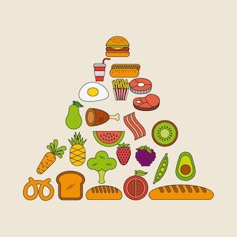 Пирамида еда иллюстрации