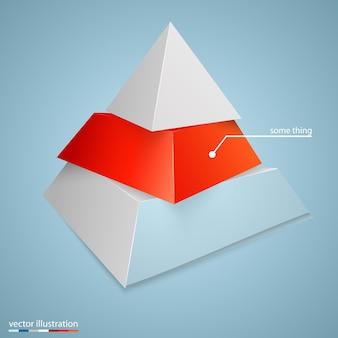 비즈니스 개념 배경에 대 한 피라미드 아이콘