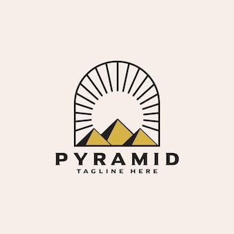 Pyramid logo design vector template