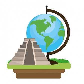 Pyramid structure icon