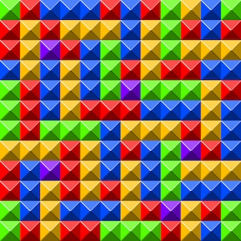 Pyramid tiles pattern