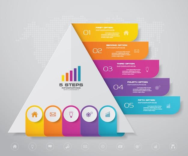 各レベルのテキスト用の空き容量のあるピラミッド。
