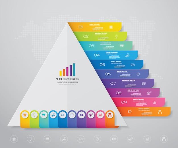 各レベルのテキスト用の空き容量のあるピラミッド。 Premiumベクター