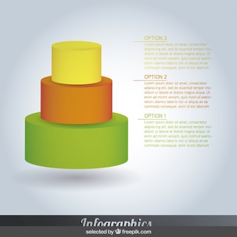 Pyramidal colorful  infographics