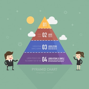 ピラミッド型のインフォグラフィックテンプレート