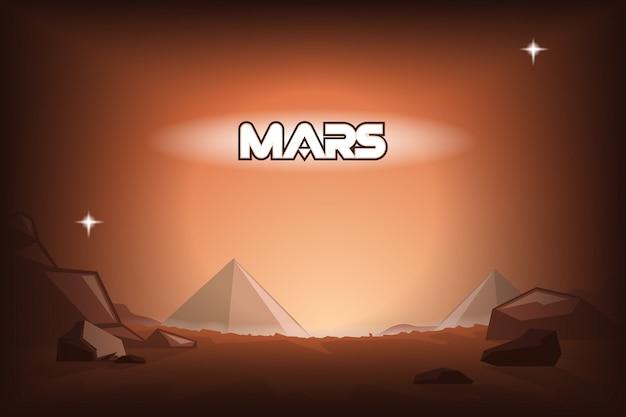 Pyramids on mars.
