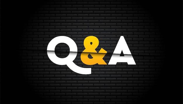 Q & a 템플릿.