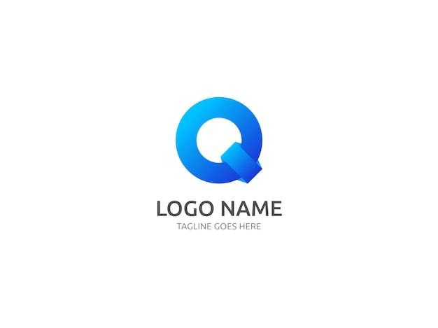 Q文字ロゴと文字qロゴデザインベクトルテンプレート