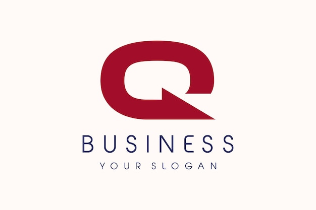 Qロゴ矢印。手紙qデザインベクトルイラストモダンアイコン。