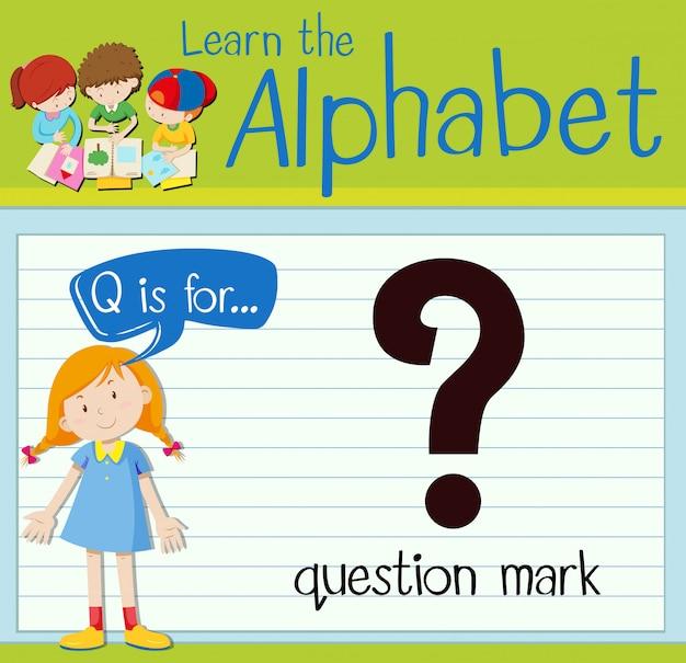 Буквенное обозначение q для вопросительного знака