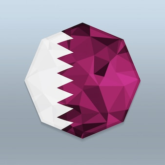 Qatar flag with octagone design vector