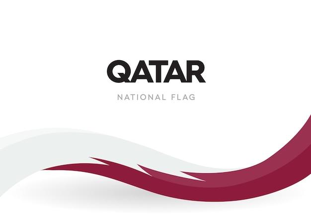 빨간색과 흰색 파도와 카타르 국기