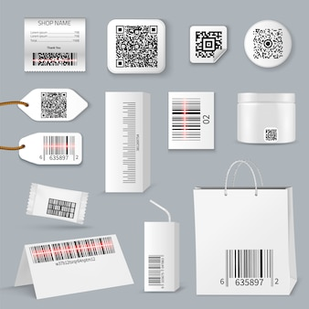 Qr bar code using scanning icon set