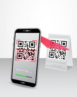 Qr code cashless payment via smart phone at the shop